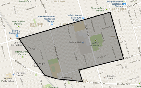 Dufferin Grove Map