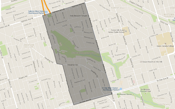 Humewood Cedarvale Map